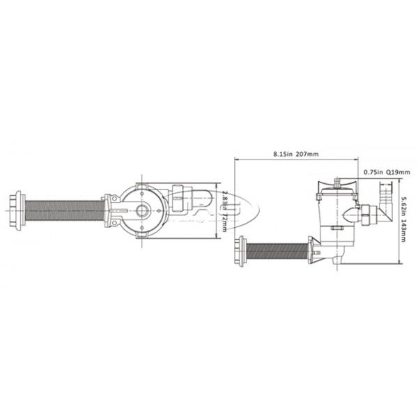 12V Seaflo 800GPH Livewell Pump