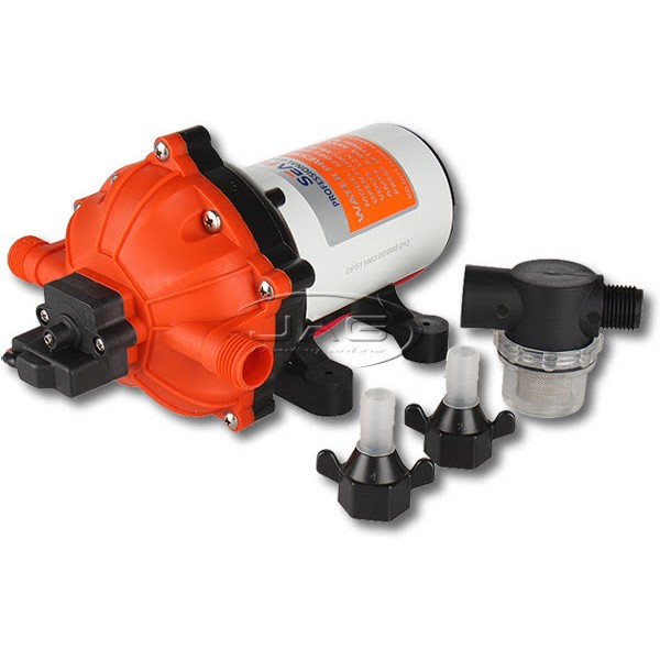 Seaflo 12V 18.9L/Min 70 PSI Water Pressure Diaphragm Pump - 5-Chamber