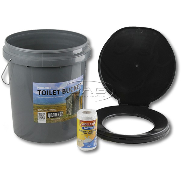 20L Portable Outdoor Toilet Bucket with Lid & Bags