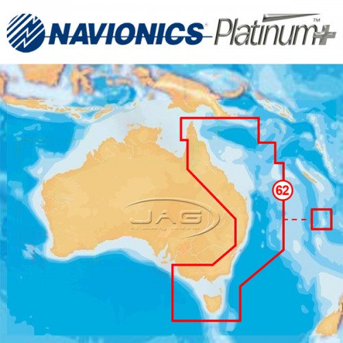 Navionics Platinum+ 62P XL3 - East & North Australia Chart