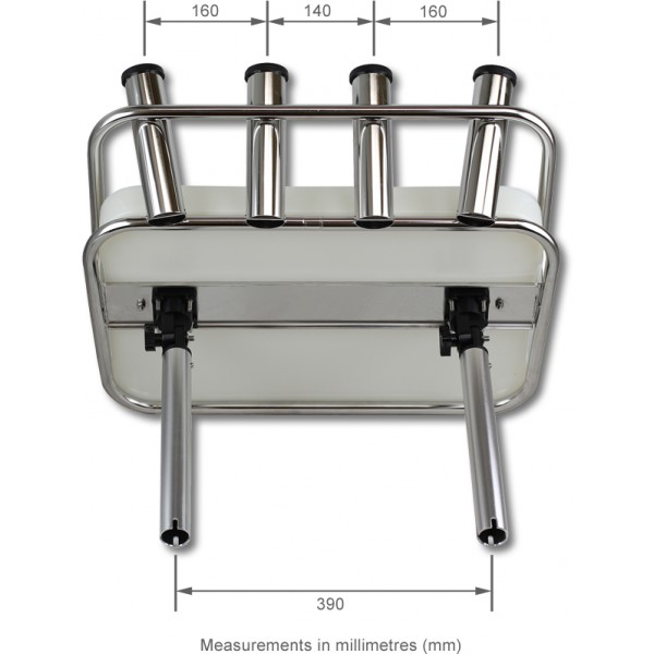Deluxe Stainless Steel Bait Board & Rod Holders - Rod Holder Mount