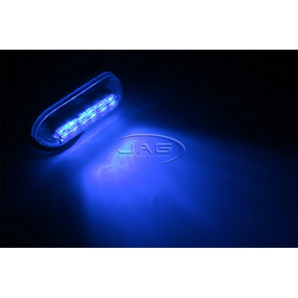"""12V Blue 6-LED 3W Underwater Boat Transom Light 3.5"""""""
