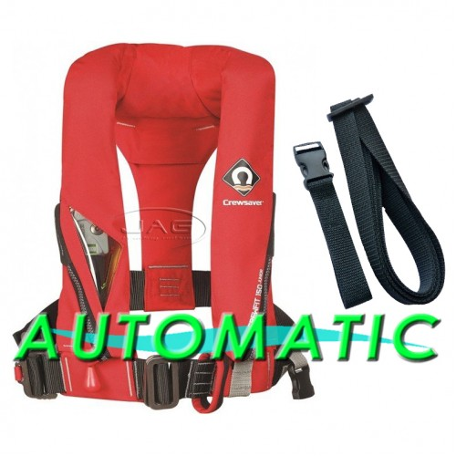 Crewsaver Crewfit 150N Junior Lifejacket Automatic With Harness - Fiery Red
