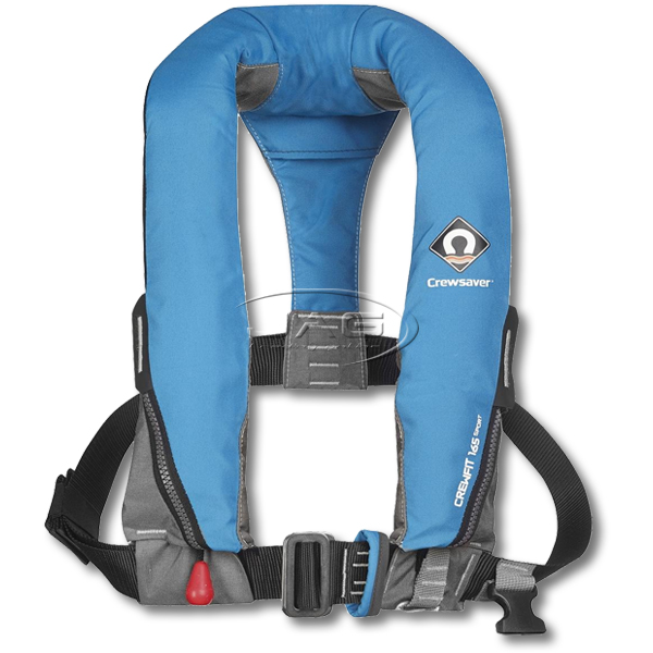 Crewsaver Crewfit 165 Sport Manual Inflatable PFD 165N - Diva Blue