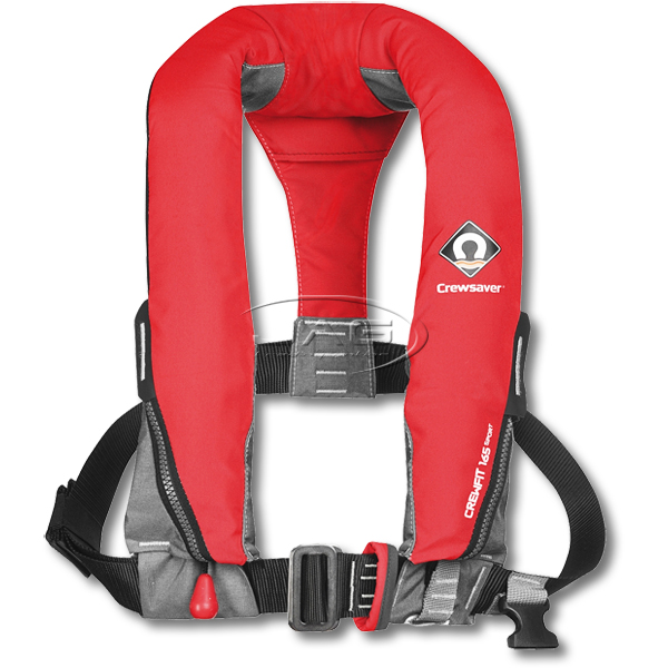 Crewsaver Crewfit 165 Sport Manual With Harness Loop Inflatable PFD - Fiery Red