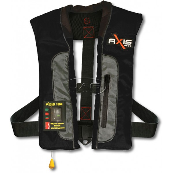 Axis Offshore PRO Mk2 Black Inflatable 150N PFD
