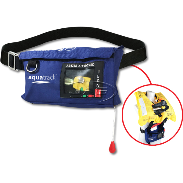 AquaTrack Waist Belt 150N Manual Inflatable PFD - Navy Blue