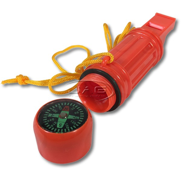 Safety Bailer Kit with Whistle, Compass, Torch, Mirror, Rope & Float