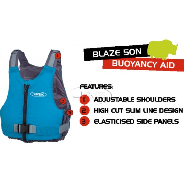 YAK Blaze 50N Red Buoyancy Aid PFD