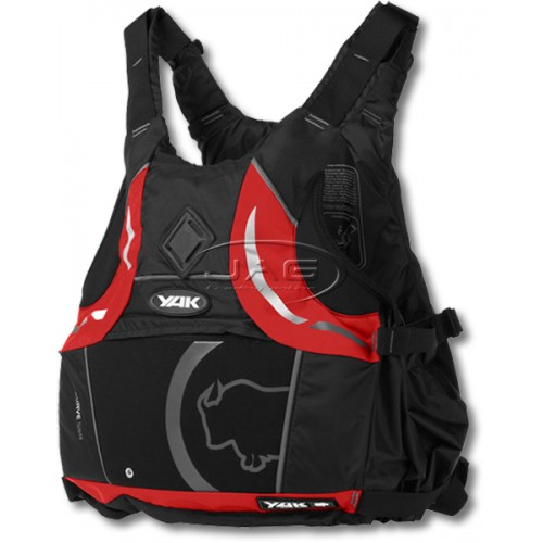 YAK Kurve Black/Red 55N Junior 30-40kg Buoyancy Aid PFD