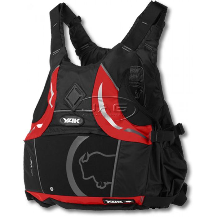 90dec0079 YAK Kurve Black/Red 55N Junior 30-40kg Buoyancy Aid PFD