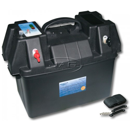 Power Battery Box with 12V Socket, Condition Tester & Strap