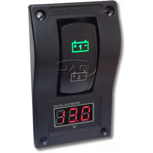 12V Deluxe LED Dual Battery Test Meter with Volt Meter