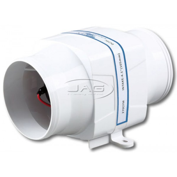 "AquaTrack 24V In-Line 270 CFM Bilge Air Blower - Suits 4"" Hose"