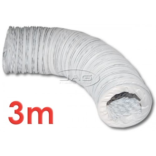 "3M x 3"" (75mm) Diameter Reinforced Flexible Bilge Blower Hose"