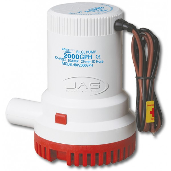 12V 2000 GPH Submersible Bilge Pump