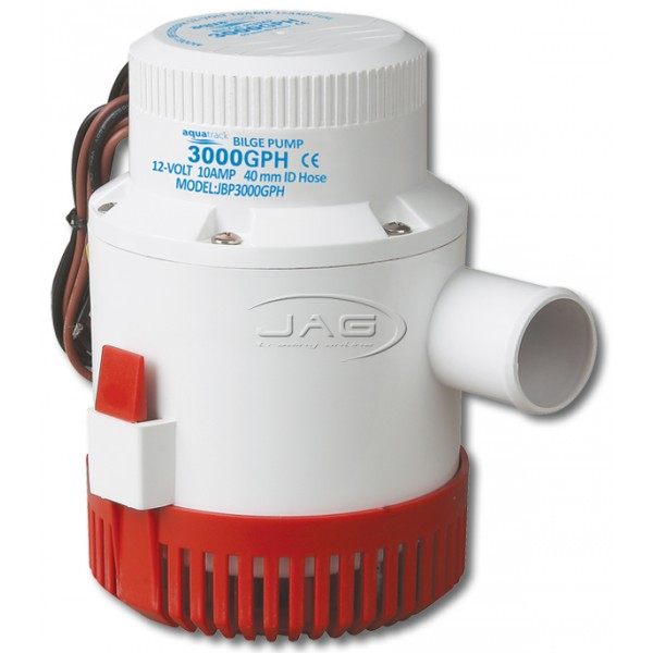 12V 3000 GPH Submersible Bilge Pump