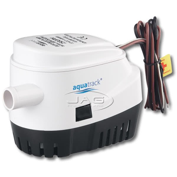 12V Automatic 750 GPH Submersible Bilge Pump & Built-in Float Switch