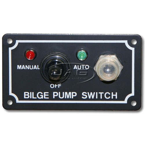 12V Bilge Pump LED Switch Panel - Man / Off / Auto