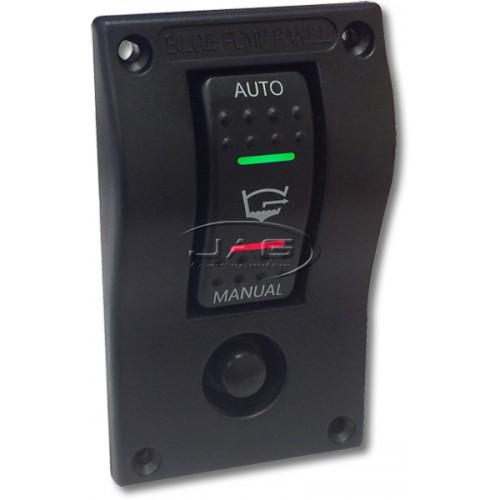 12V Deluxe LED Rocker Bilge Pump Switch Panel - Auto/Off/Manual