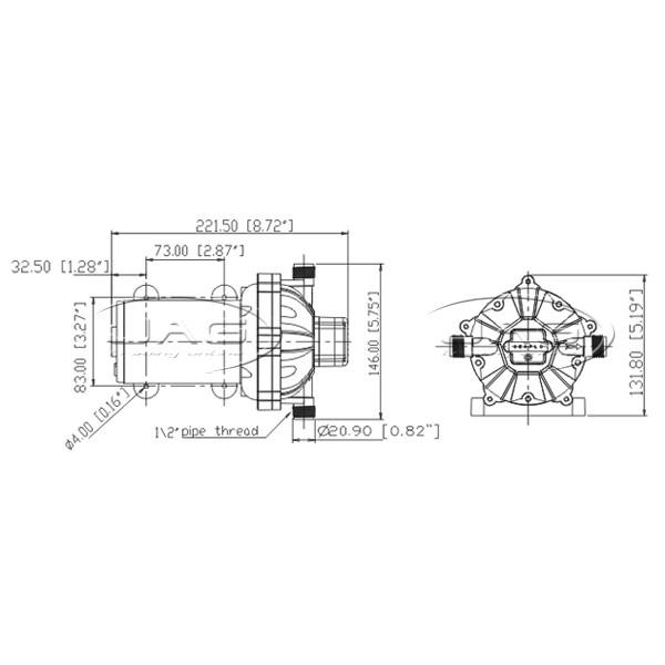 12v washdown pump kit 19 l  min 70 psi deck wash