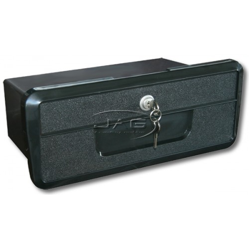 Large Black Storage Glove Box with Lock & Keys