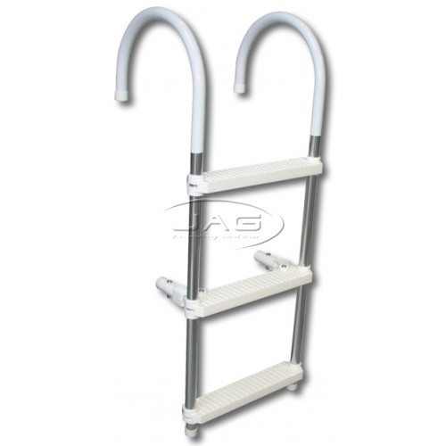 Heavy Duty 3 Step Aluminium Folding Boat Ladder