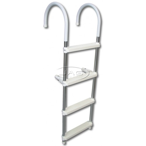 Heavy Duty 4 Step Aluminium Folding Boat Ladder