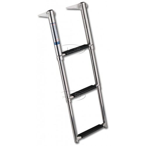 316 Stainless Steel 3 Step Telescopic Boat Ladder