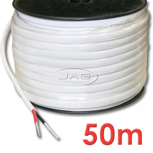 50M x 2mm Tinned Marine Grade Twin Core Wire