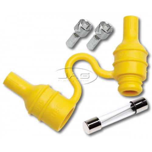 Waterproof Inline Fuse Holder & 20 Amp Glass AGC Fuse