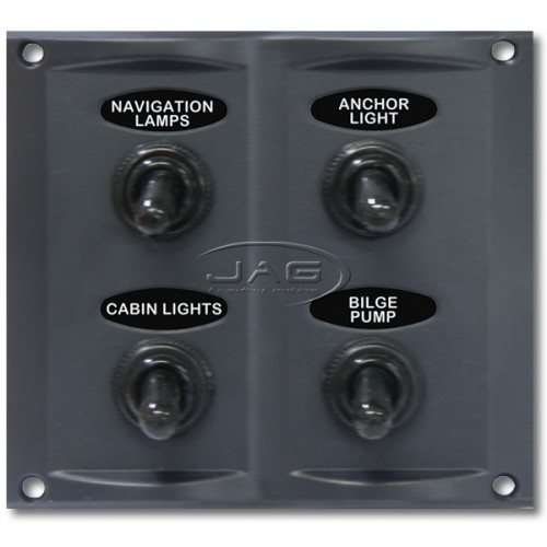 4-Gang Waterproof Toggle Switch Panel