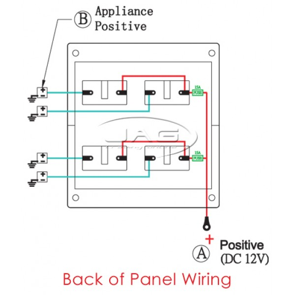 Switch Panel 4T2 4 600x600 4 gang waterproof toggle switch panel 12v switch panel wiring diagram at bayanpartner.co