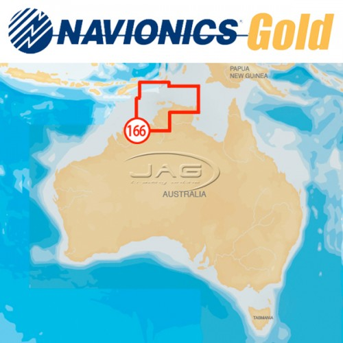 Navionics+ Gold Small 8G166S Northern Australia Chart