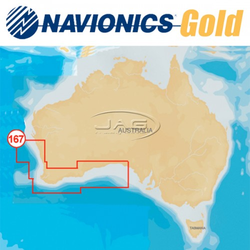 Navionics+ Gold Small 8G167S South West Australia Chart