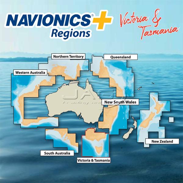 Navionics+ Regions Victoria & Tasmania / VIC & TAS Australia Chart