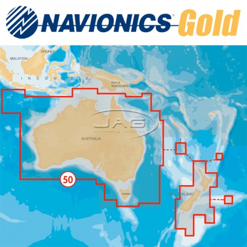 Navionics+ Gold XL9 50XG Australia-Wide & New Zealand-Wide Chart