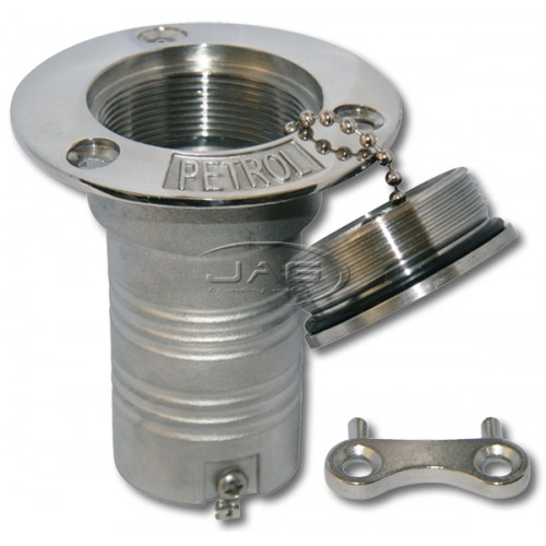316 Stainless Steel Deck Filler with Key - Fuel