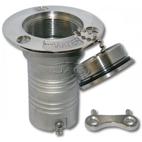 316 Stainless Steel Deck Filler with Key - Water
