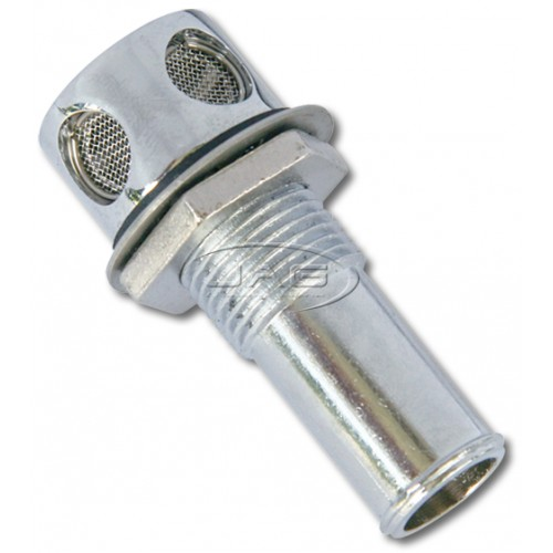 "Chrome Plated Straight Fuel Breather - 16mm (5/8"")"