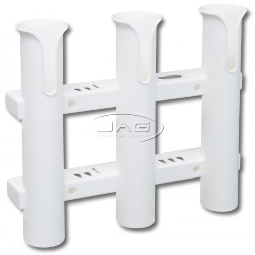 White Plastic Triple 3-Rod Rack / Organiser