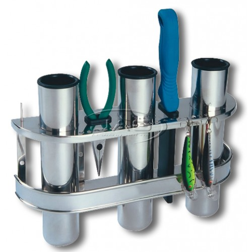 Stainless Steel Triple 3-Rod Rack / Organiser