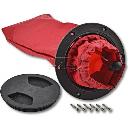 Kayak Deck Plate Kit - Inspection Port & Storage Bag