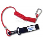 Kayak Paddle Leash - Coiled Lanyard & Snap Hook