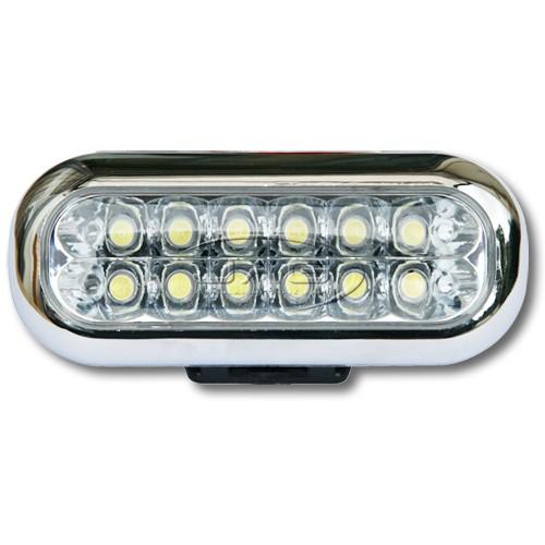 12V 12-LED Rectangular Work Lamp
