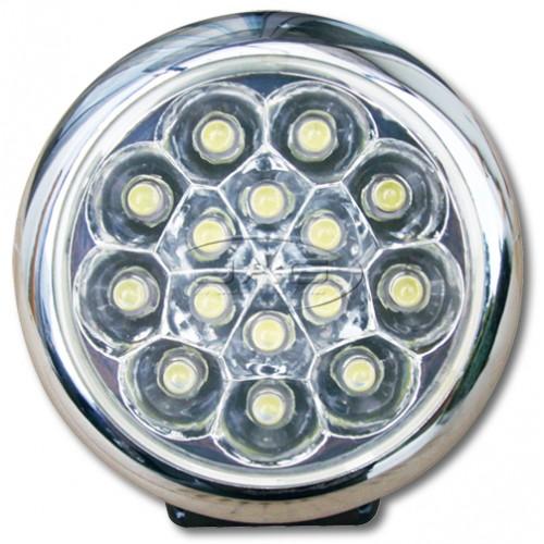 12V 15-LED Round Work Lamp