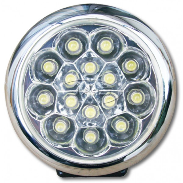 12V 15-LED Round Work Lamp