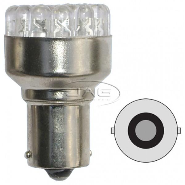 12V 19-LED BA15S 1156 White Globe