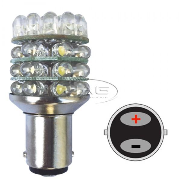 12V 36-LED T25 BA15D 1142 White Globe