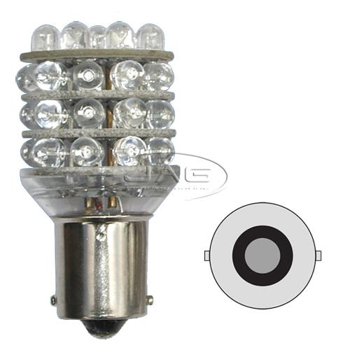 12V 36-LED T25 BA15S 1156 Amber Globe